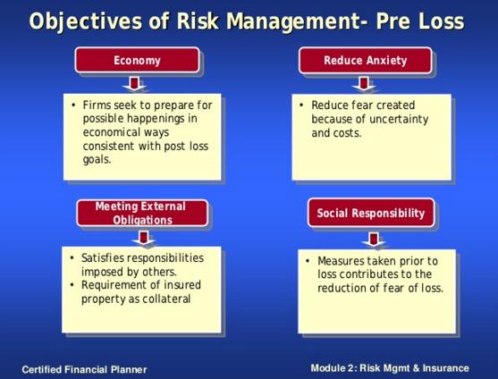 Obejctives of Risk Managemetn - Pre Loss