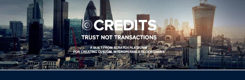 Credits blockchain company