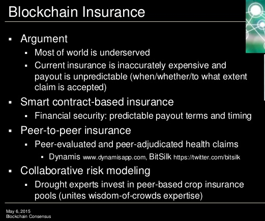 Blockchain insurance - Blockchain Consensus Protocols, by Melanie Swans