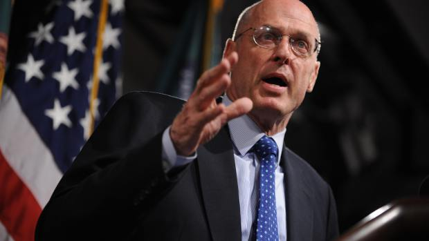 US Treasury Secretary Henry Paulson addr