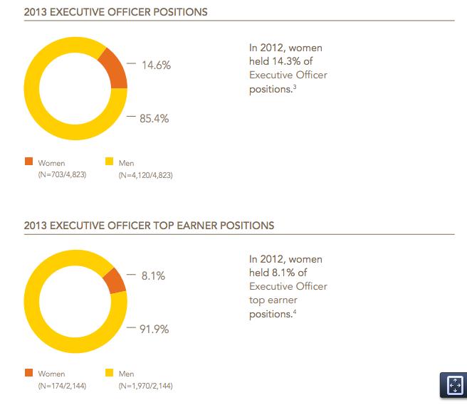 women as CEO 2013 chart