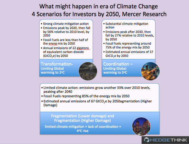 Investors Scenarios in time of Climate change