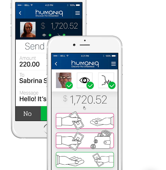 Humaniq platform visualisation app