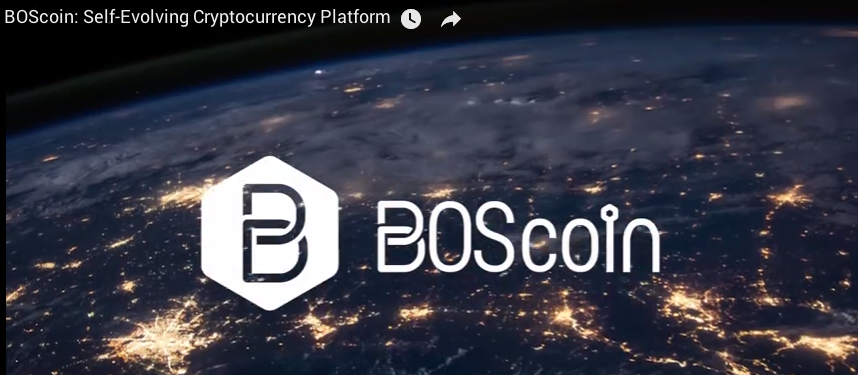 BOScoin is a Self-Evolving Cryptocurrency Platform for Trust Contracts