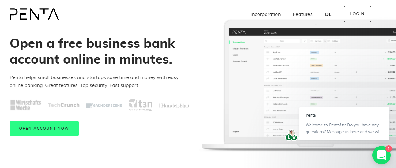berlin-good Penta Fintech Will Allow Business to Open a Bank Account in 24 Hours